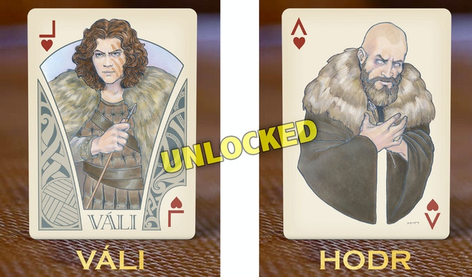 UNLOCKED STRETCH GOAL: Váli and Hǫðr cards