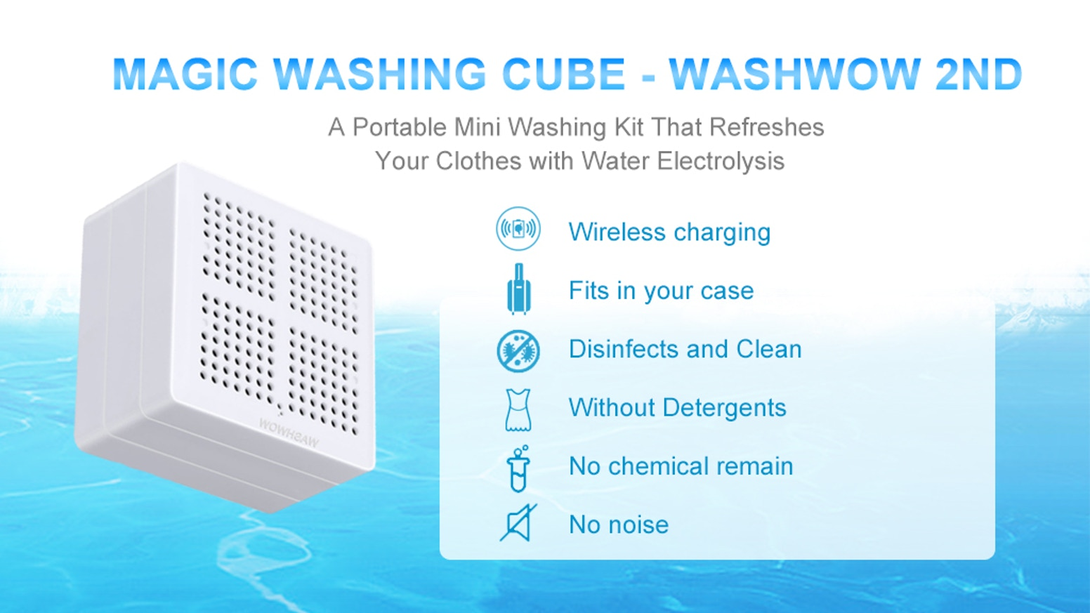 A Magic Portable Clothes Washing & Disinfect Gadget With No Detergent (Adopted Wireless Charging) Starting from $89 Only on Kickstarter