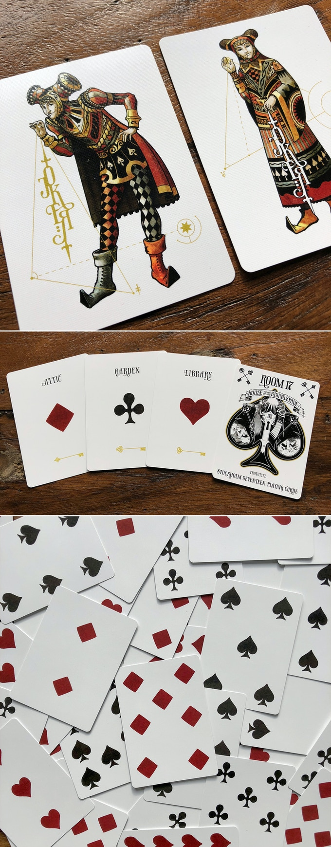 Faro variant: Jokers, Aces and index-less spot cards