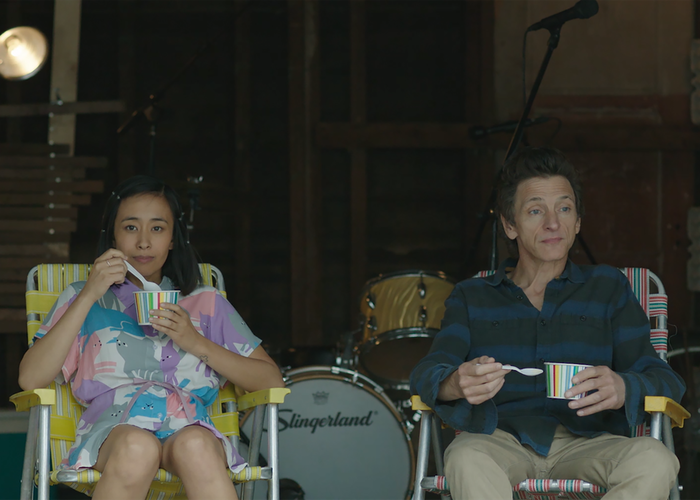 Charlene deGuzman and John Hawkes in Unlovable, premiering March 10 at SXSW.