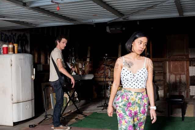 Charlene deGuzman and John Hawkes in Unlovable
