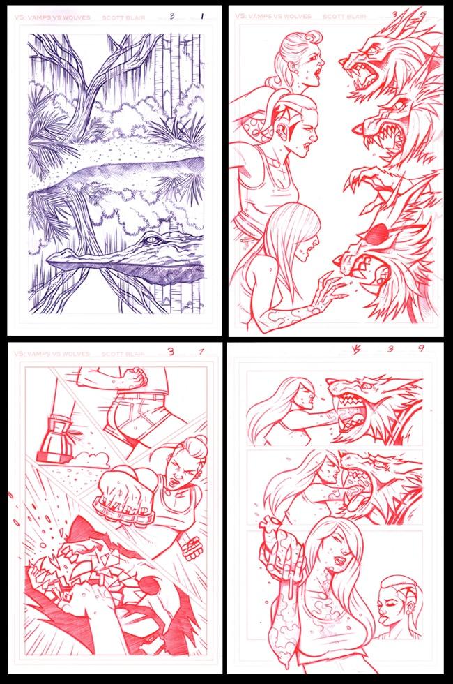 ORIGINAL ART PAGES #1, #5, #7, #9