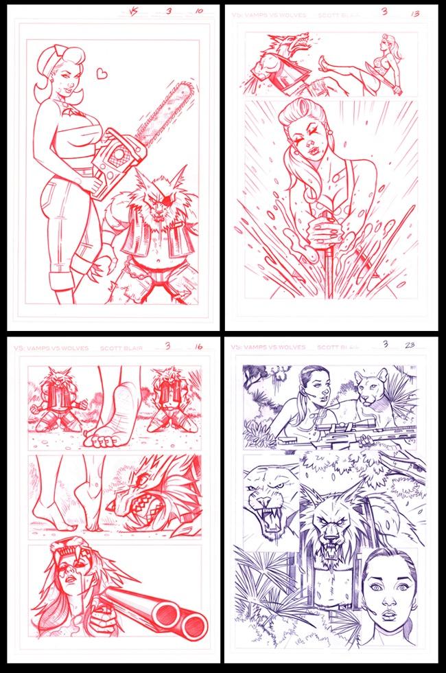 ORIGINAL ART PAGES #10, #13, #16, #23