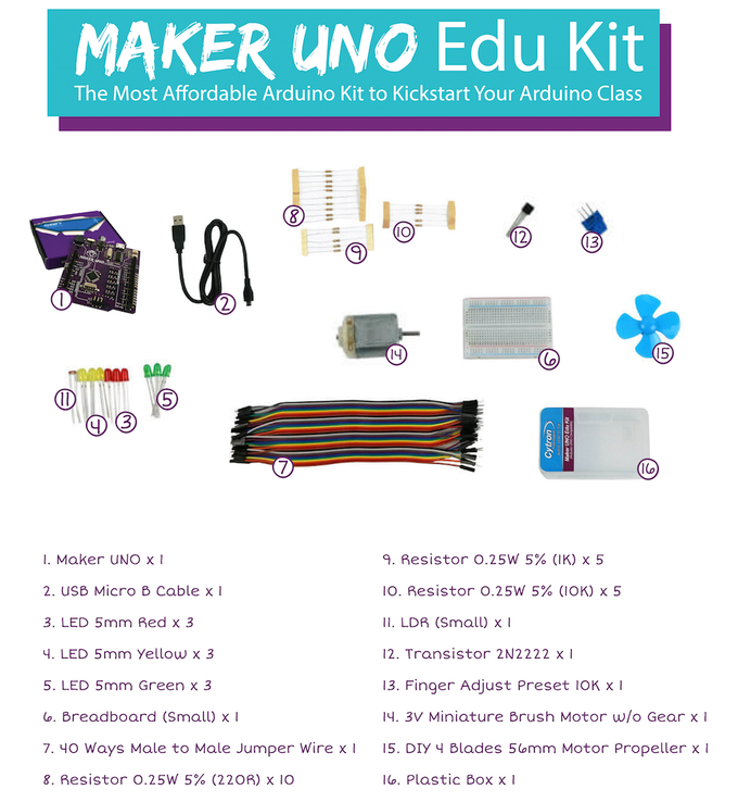 Maker UNO: Simplifying Arduino for {Education} on