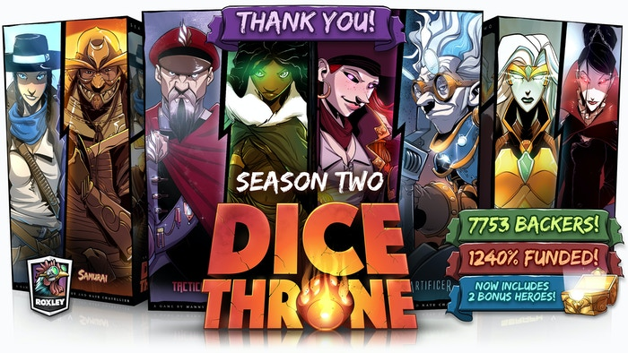 A heart-pumping, fast-playing game of skilled card play & dice manipulation that will have your game nights cheering!