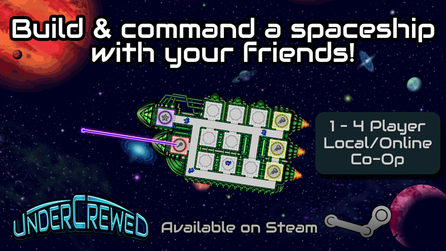 You are the last 4 survivors on your spaceship! Can you and your team customise and pilot the ship to its destination?