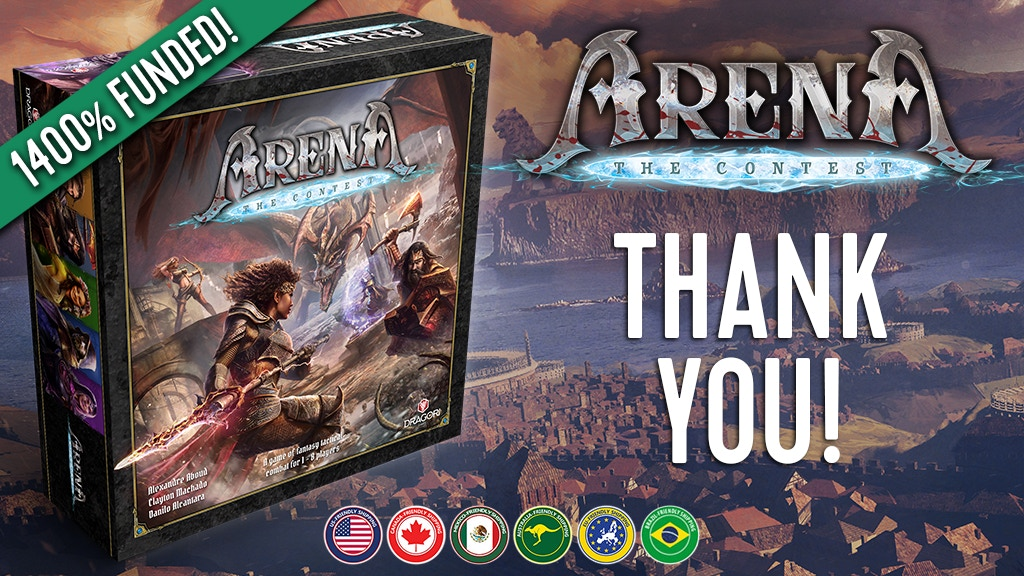 Arena: the Contest - Tabletop Miniatures Board Game project video thumbnail