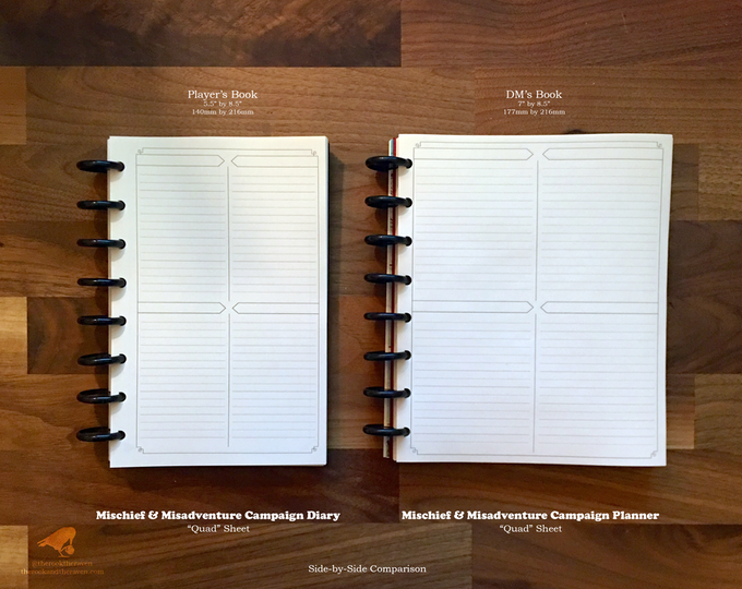 Diary and Planner - Side by Side