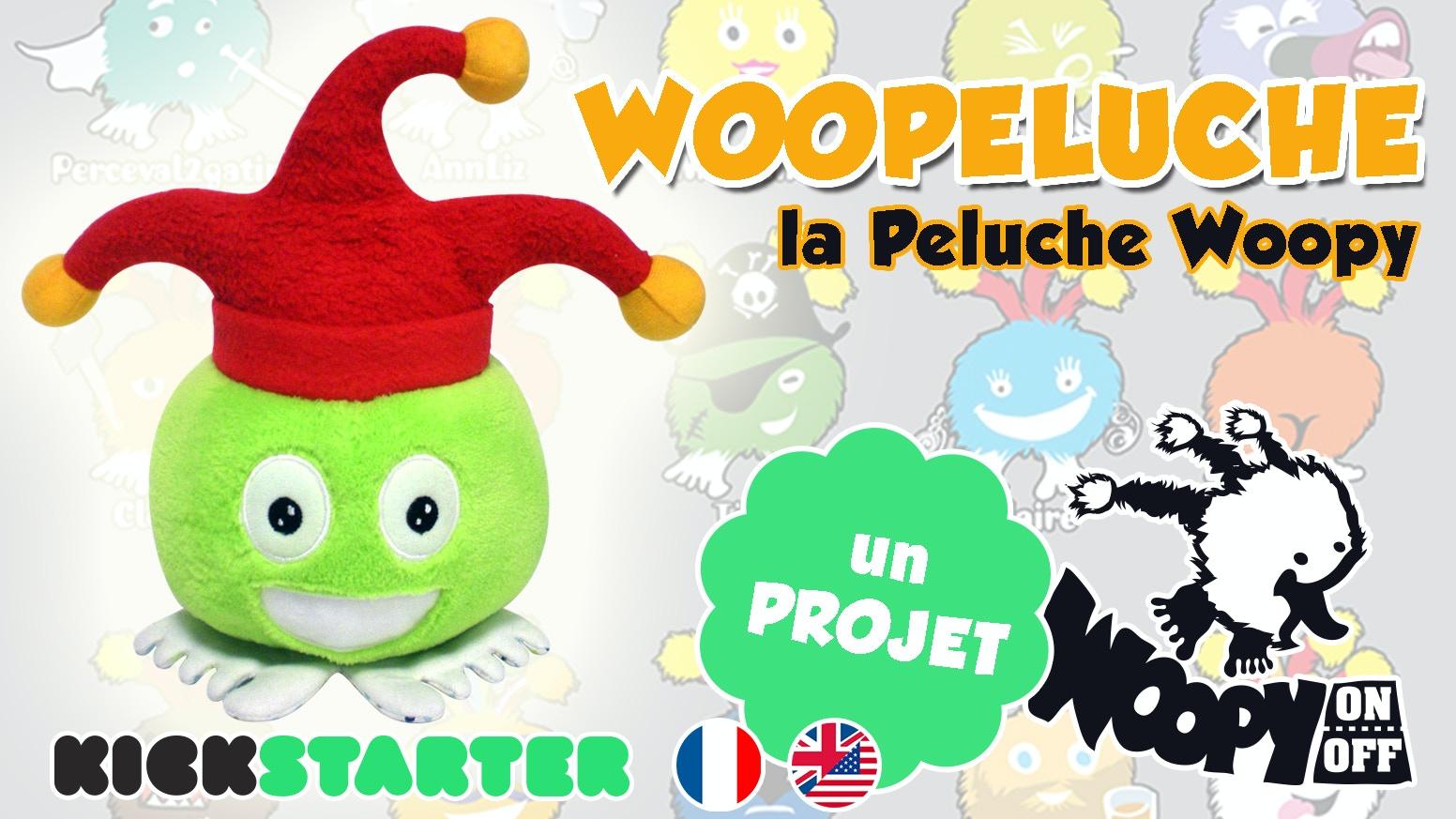 La Woopeluche : la peluche Woopy ! L'une des mascotte emblématique du FLIP - Festival Ludique International de Parthenay