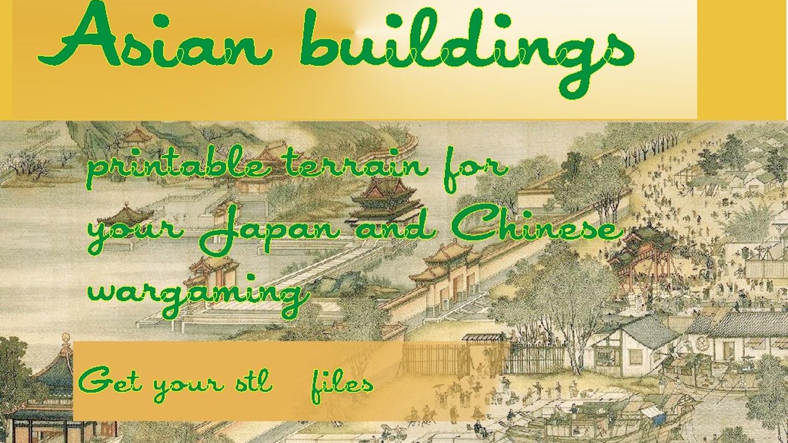 Printable Tabletop Terrain for Japan / China