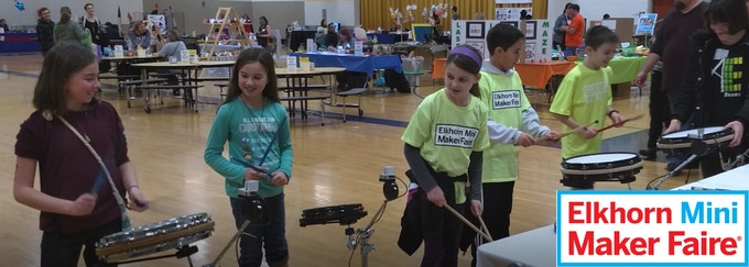 AE.drums at the 2018 Elkhorn Mini Maker Faire