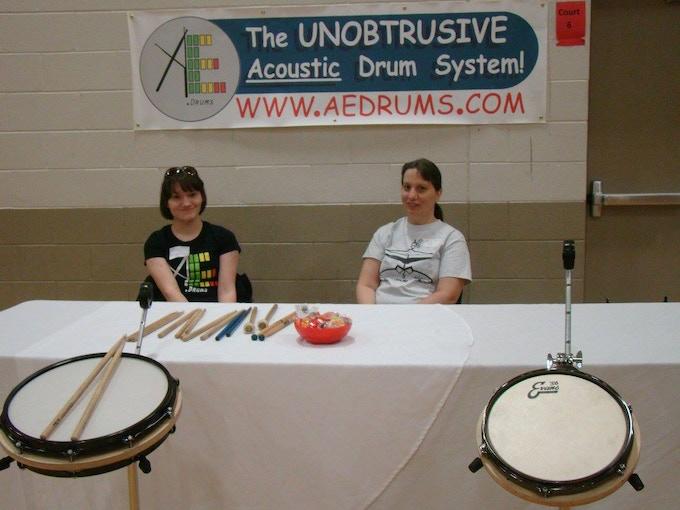 Co-Inventor Abby E Bean on left at Elkhorn Mini Maker Faire
