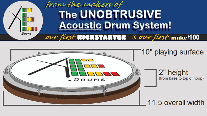 """Our Practice Pad Sized 10"""" Snare Drum"""