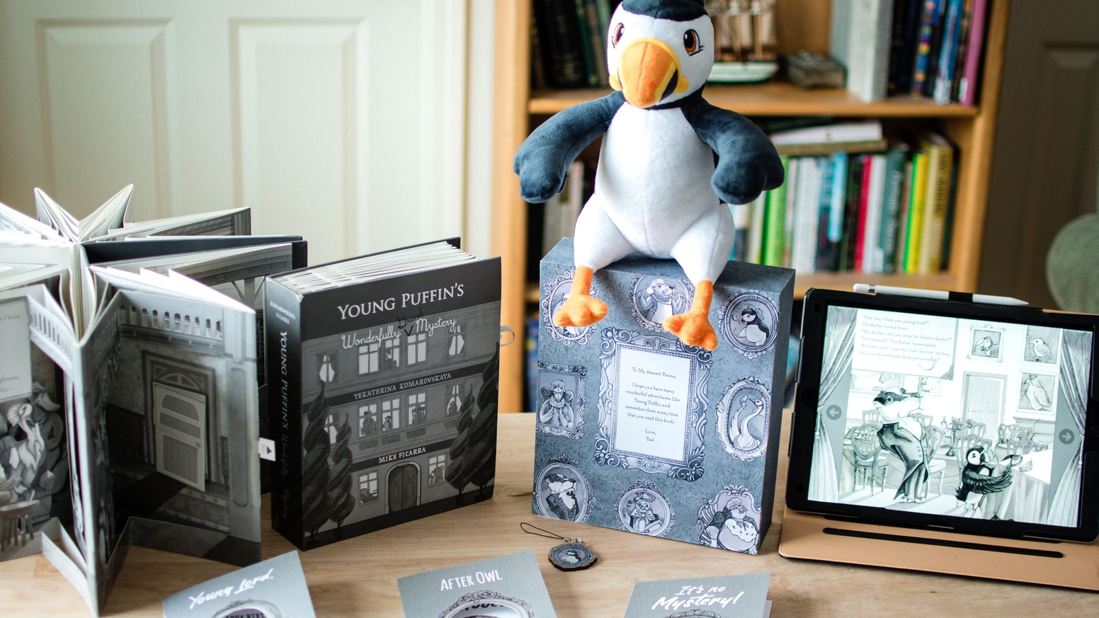Young Puffin's Wonderfully Grand Mystery is a carousel-bound pop-up book for kids.