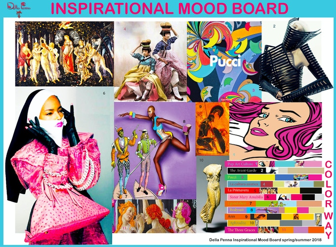 This Inspirational Mood Board is a visual summary of our collection's inspiration and theme.