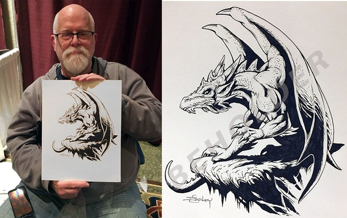 Jeff Easley with our new Dragon art!