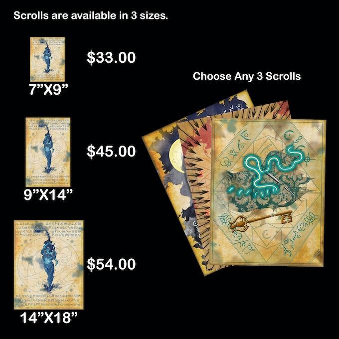 Choose Any 3 Spell Scrolls