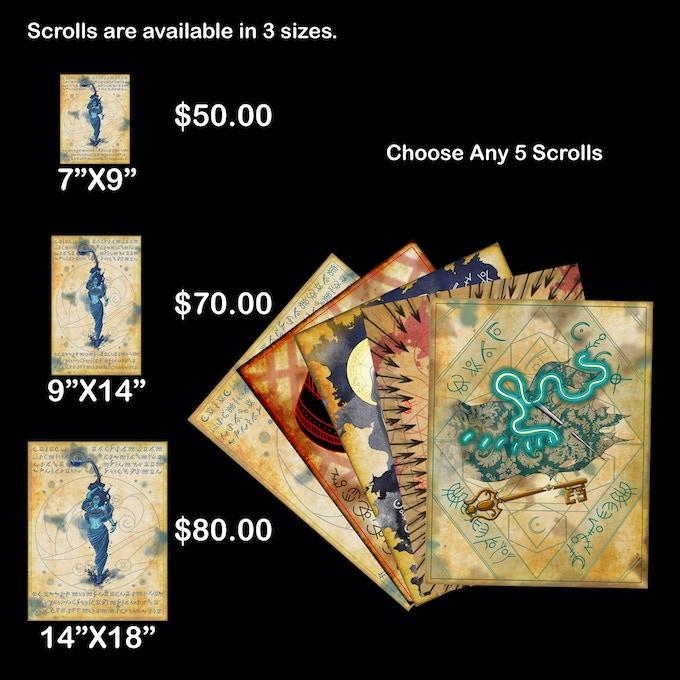 Choose Any 5 Spell Scrolls