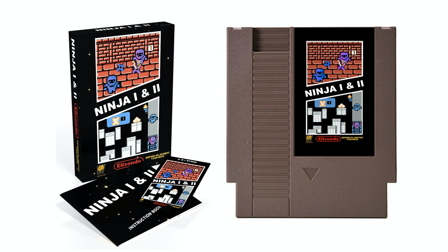 """Ninja"" and ""Ninja II"" on one cart! They're both finished/complete titles that are being combined into one game for the NES and PC/Mac"