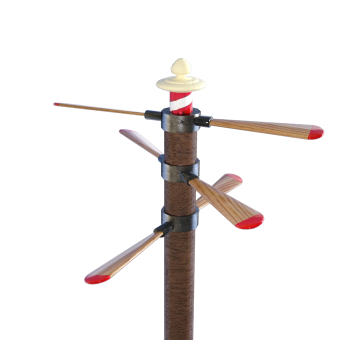 Brightshield games / Izzy's Airship components Propellor mast design