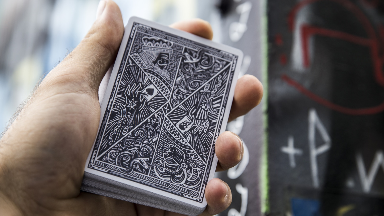 Premium and luxurious custom playing cards, intricately designed from the ground up. Now rocking a dope black and gray colour way!