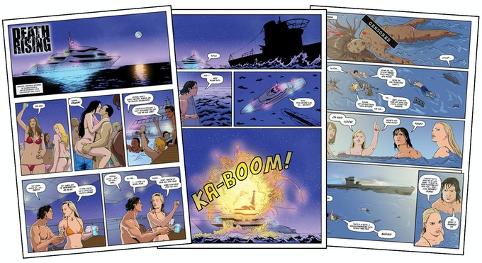 'Death Rising' - page samples