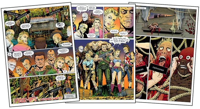 'The F**k-Ups vs The Sisters' - page samples