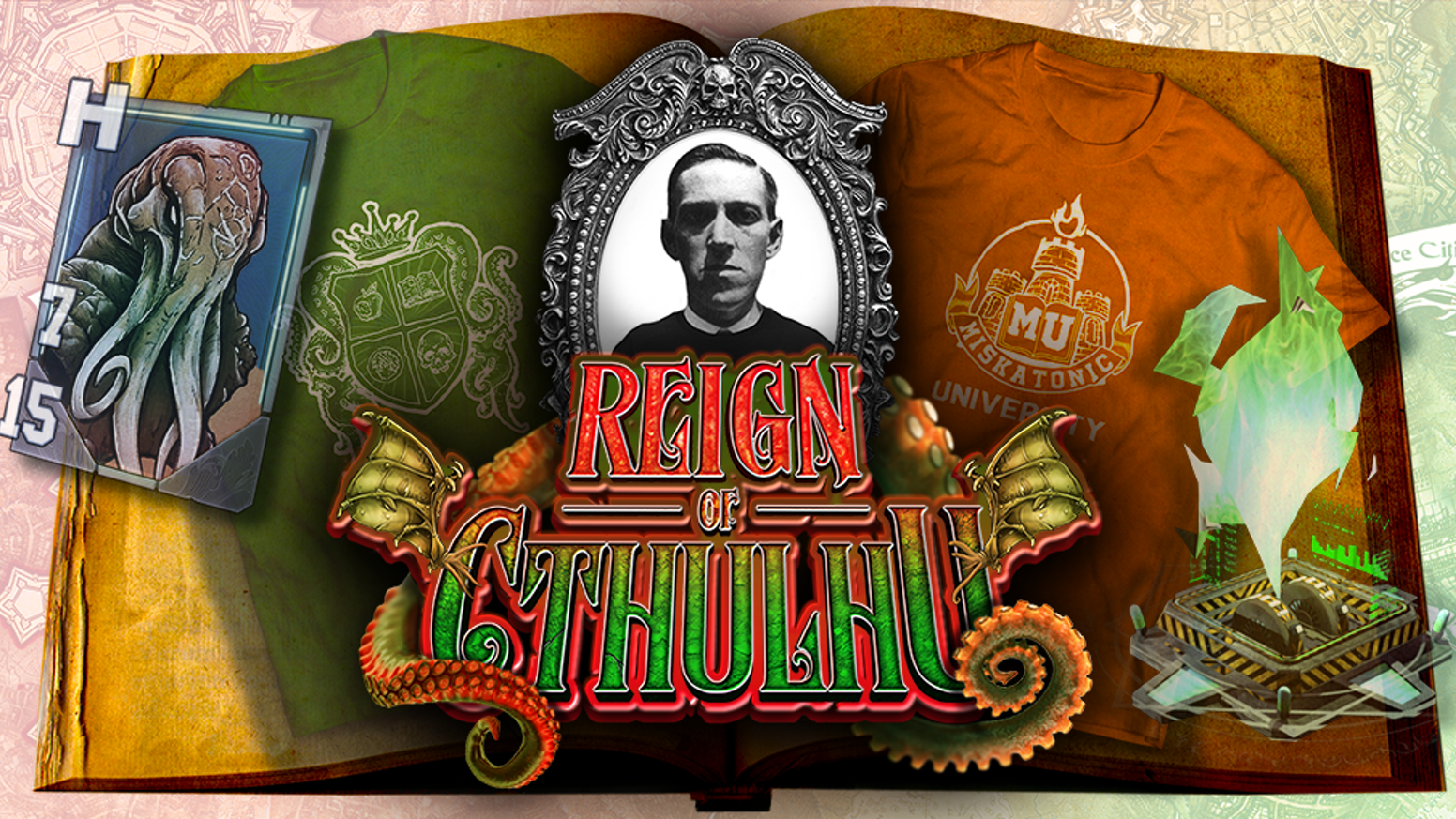 Reign of Cthulhu mashes t-shirts, phones, & augmented reality into a fun mixed reality RPG, where your neighborhood is your tabletop.