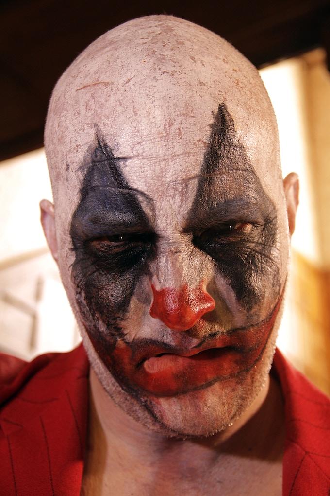 Arthur Cullipher stars as the Clown in 'The Bad Man'.
