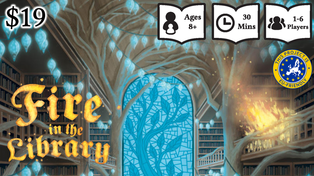 Fire in the Library Board Game project video thumbnail