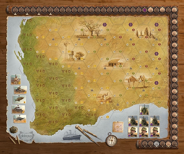 Shared Board Cause To Pause: AuZtralia Board Game By Martin Wallace By SchilMil Games