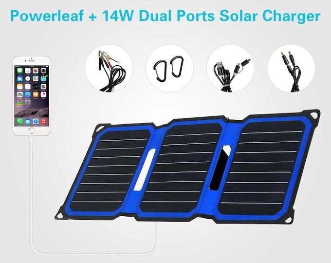 Powerleaf+ 14w Dual Ports Solar Chargers