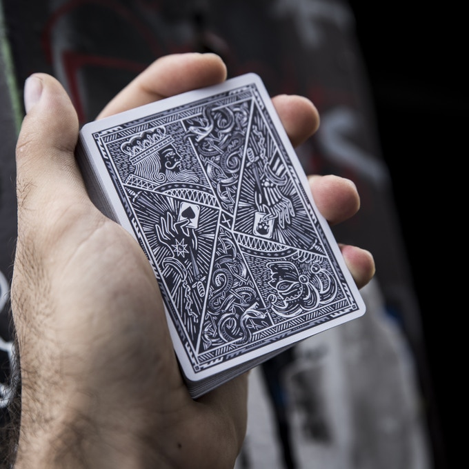 Joker and the Thief: Street Edition Rocks an Epic Cool Grey and Silver Metallic ink colour scheme on its back design!