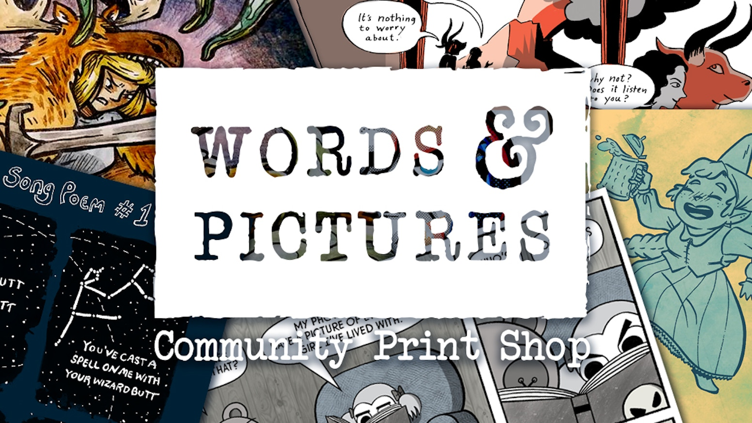 Words & Pictures is an upcoming print shop, studio space, and zine library in Essex Junction, VT.