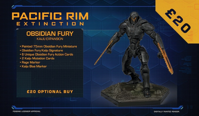 Obsidian Fury poses a unique threat to the PPDC. With an unknown origin, and a configuration and call sign not found in any PPDC database, this titanic mech is capable of moving faster and hitting harder than any Jaeger in the Moyulan fleet.