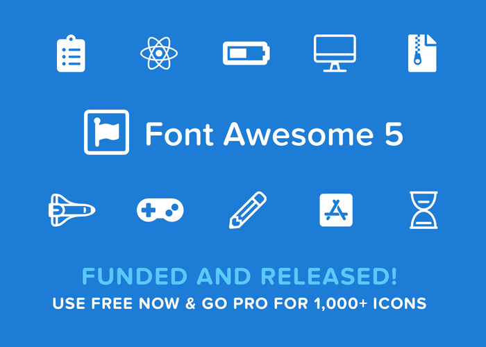 Font Awesome makes it easy to add vector icons and social logos to your website. And Pro gives 1,000+ more icons and SVG framework!