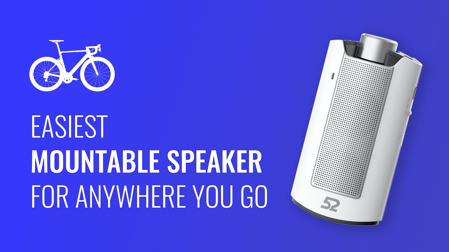 52 SPEAKER incorporates clear, crisp sound into the timeless design of a whiskey flask. Perfect for cyclists and on-the-go adventurers.