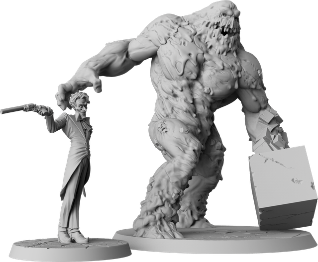The Joker sculpted by Arnaud Boudoiron and Clayface sculpted by Aragorn Marks