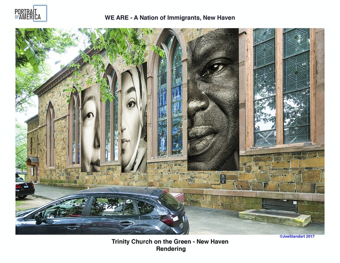 """""""WE ARE"""" is proud and grateful for the support of Trinity Church (pictured here) along with that of  Center Church and United Church for presenting many of the portraits."""