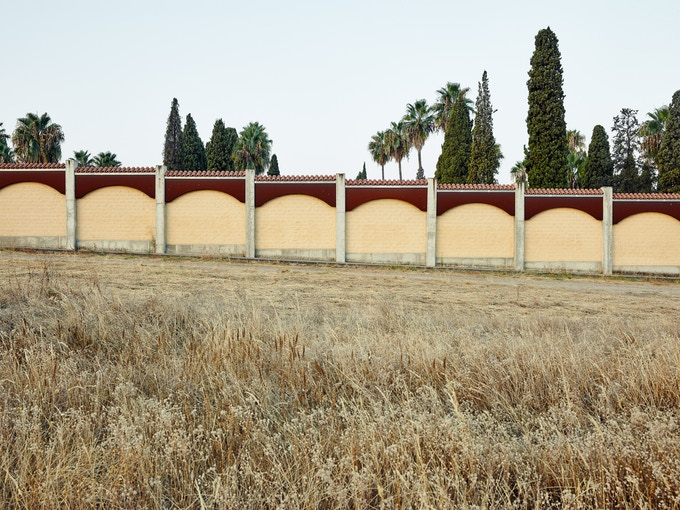 Cementerio de San Juan, Badajoz. 14.8.1936, thousands were shot at the cemetery wall. In 2009 a modern and higher wall was built to cover the original wall, icon of the repression.