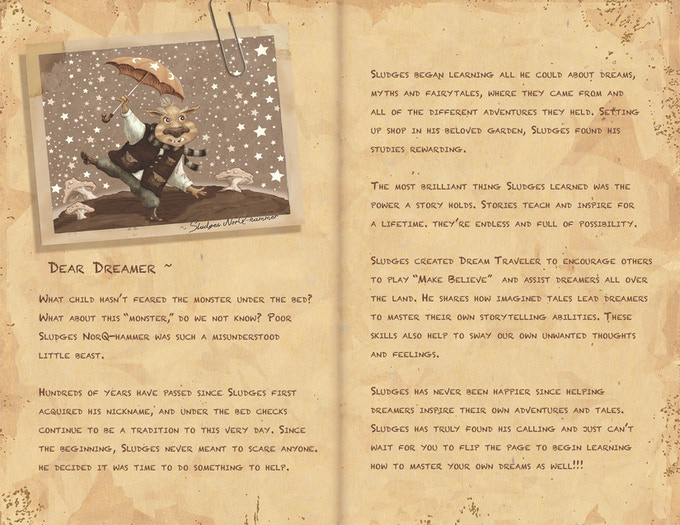 Dear Dreamer, intro page of journal.