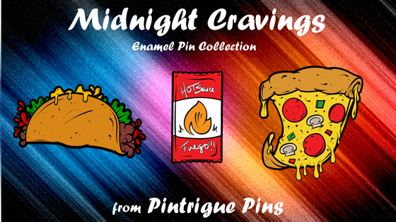 The Midnight Cravings Enamel Pin Collection