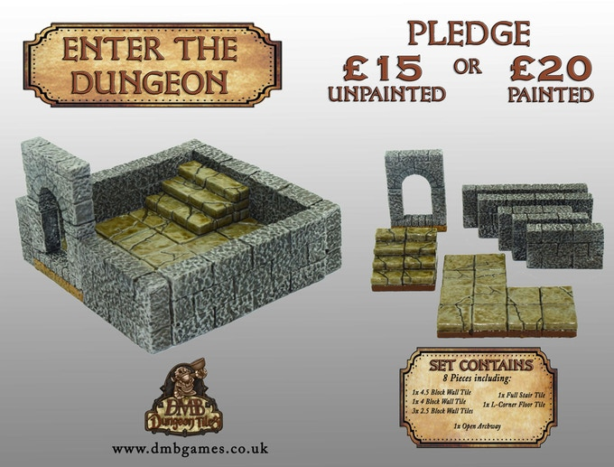 £15 or £20 Pledge: Enter the Dungeon