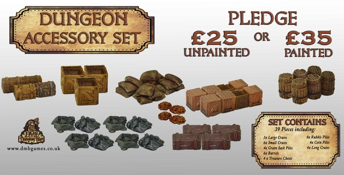 £25 or £35 Pledge: Dungeon Accessory Set