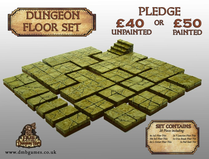 £40 or £50 Pledge: Dungeon Floor Set
