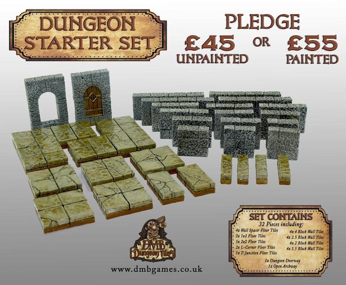 £45 or £55 Pledge: Dungeon Starter Set