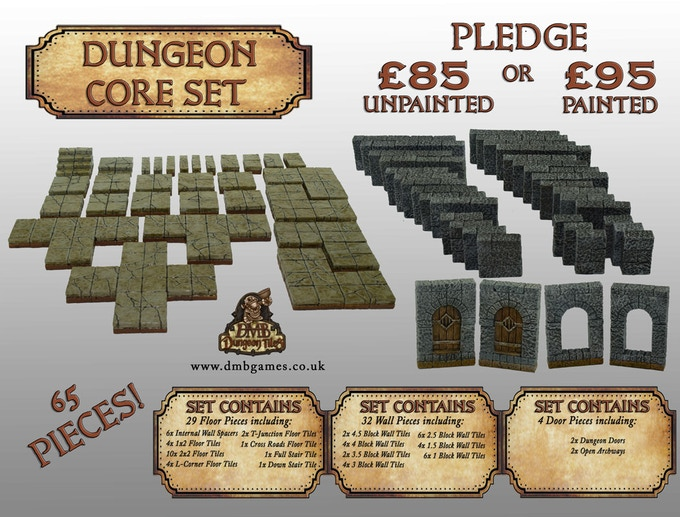 £85 or £95 Pledge: Dungeon Core Set
