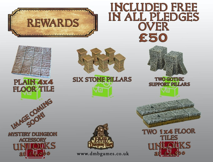 Rewards - Added Free to any pledge over £50!