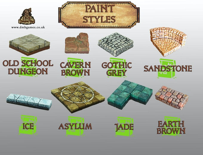 Available Paint Styles for your Tiles