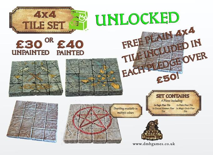 Stretch Goal 1: £1,500 – 4x4 Floor Tile Set – UNLOCKED!